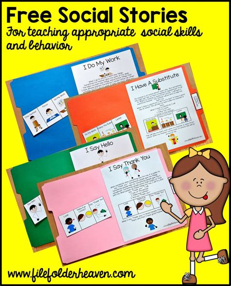 social story templates free printable quot folder stories quot simple one page social