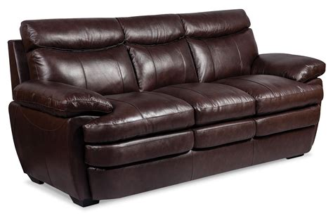 genuine leather sofa sale marty genuine leather sofa brown the brick
