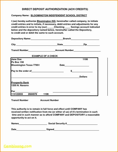 Top Result Direct Deposit Forms For Employees Template Inspirational Template Template Fake Direct Billing Form Template