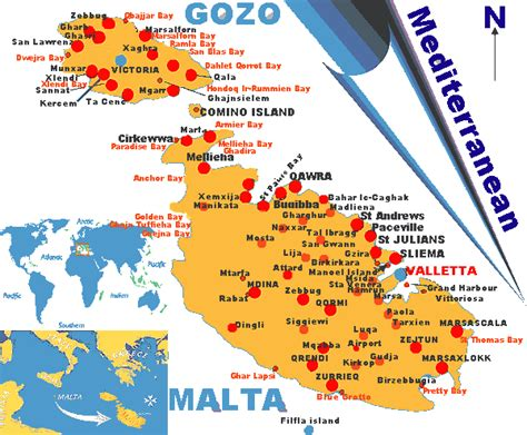 0004490487 carte touristique malta and malta plan et image satellite