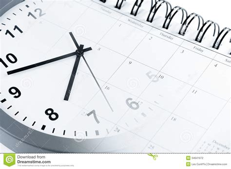Faced Calendar by Time Management Stock Photography Image 34641972