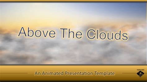 Animated Cloud Template For Powerpoint Powerpoint Presentation Cloud Powerpoint Template