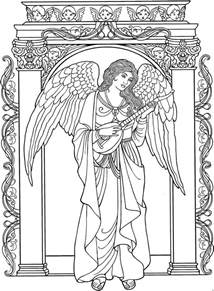 colouring book for adults guardian 1000 images about angeles on coloring pages