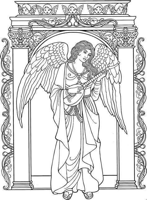 angel coloring pages for adults pictures to pin on