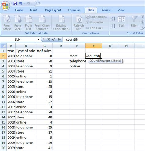 countif tutorial excel 2010 how to use the countif and sumif functions in excel a