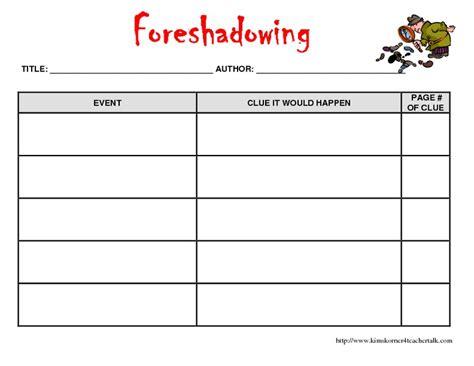 Foreshadowing Worksheets by Worksheets Foreshadowing Worksheet Opossumsoft