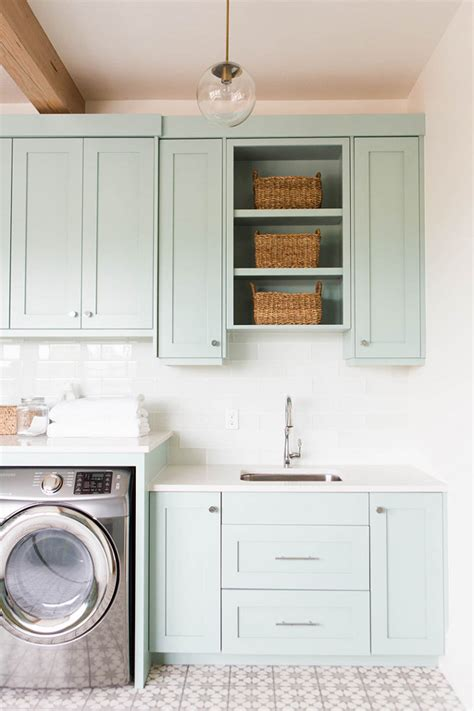 laundry room storage cabinets ideas coastal blue laundry room design home bunch interior