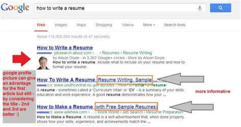 Example Of A Simple Resume by Best Way To Write A Title Tag For Better Seo And Traffic