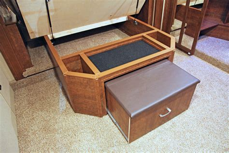 diy ottoman storage bed solitude under bed storage and ottoman good life rv