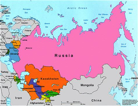 nations of the former ussr map quiz former ussr map my