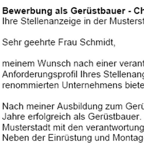 Vorlage Anschreiben Gerustbauer Vertrag Vorlage Digitaldrucke De Bewerbung