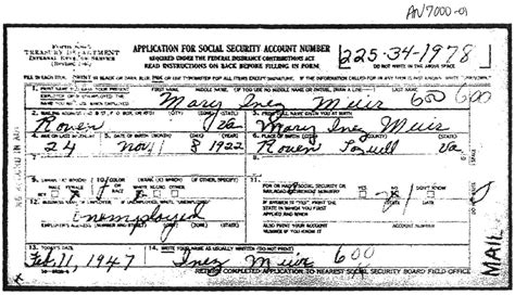 Records By Social Security Number Requesting A Copy Of Ss Application Familytree