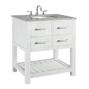 Home Decorators Vanity Home Decorators Collection Fraser 31 In W X 21 1 2 In D Bath Vanity In White With Solid
