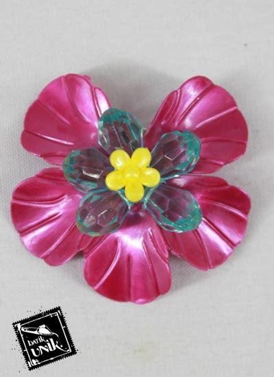 Pin Bunga Bross Bunga Peniti Bros Bunga Bros Elite Mutiara Pin peniti bros bunga daun besar warna warni bross etnik murah batikunik