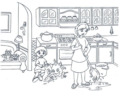 coloring page of a kitchen kitchen coloring pages coloring pages for toddlers