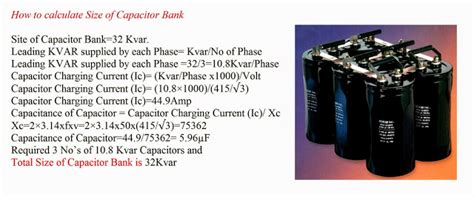 capacitor bank selection guide how to calculate size of capacitor bank elec eng world
