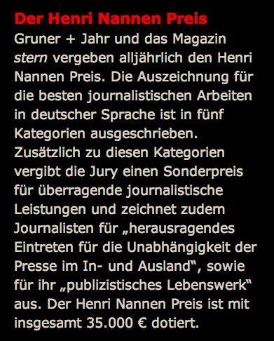 Essay Henri Nannen Preis by Suedwatch De 187 Archiv 187 Der Gipfel Der Borniertheit