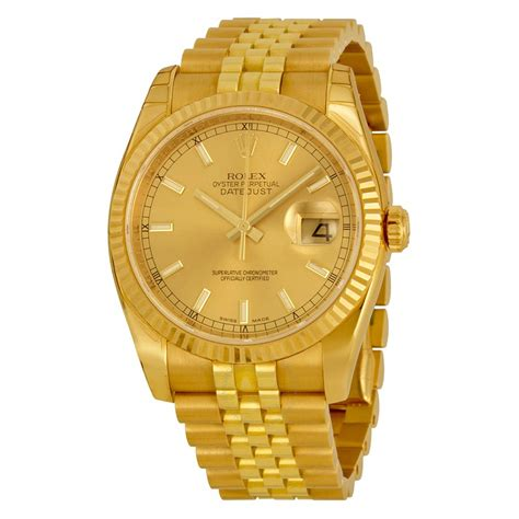 Rolex Watches Rolex Datejust Automatic Gold 18kt Yellow Gold