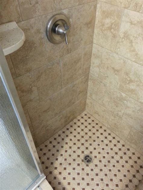 Shower Stall Floor by Everything Was Replaced In This Shower Stall New Tile