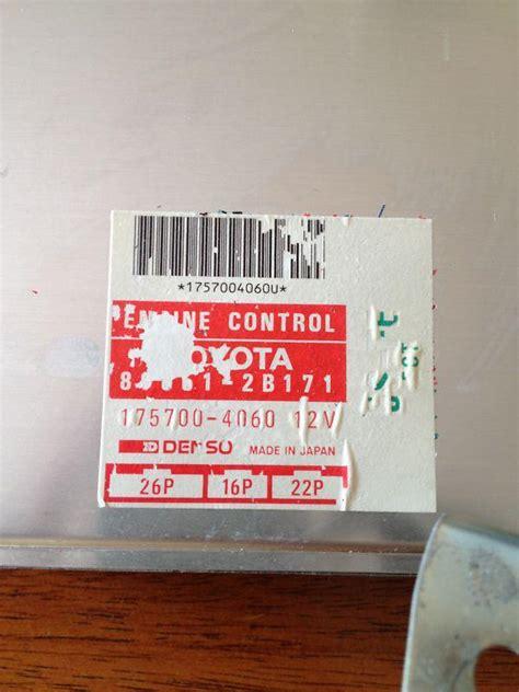 277 Ecu Engine Controle Unit Toyota Camry 5s Fe sell 92 93 toyota celica gt automatic 5s fe ecu ecm brain engine computer 89661 2b171 motorcycle
