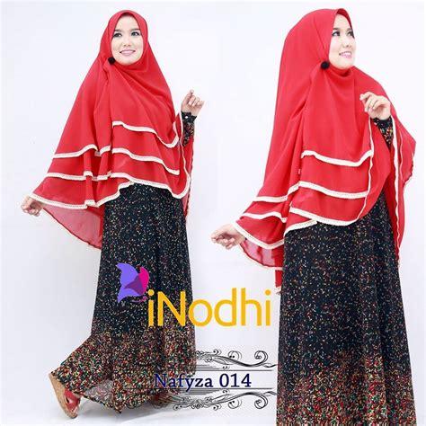 Zahra Khimar Pet Ukuran L nafyza 014 baju muslim gamis modern