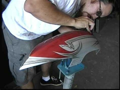 custom painting a chopper