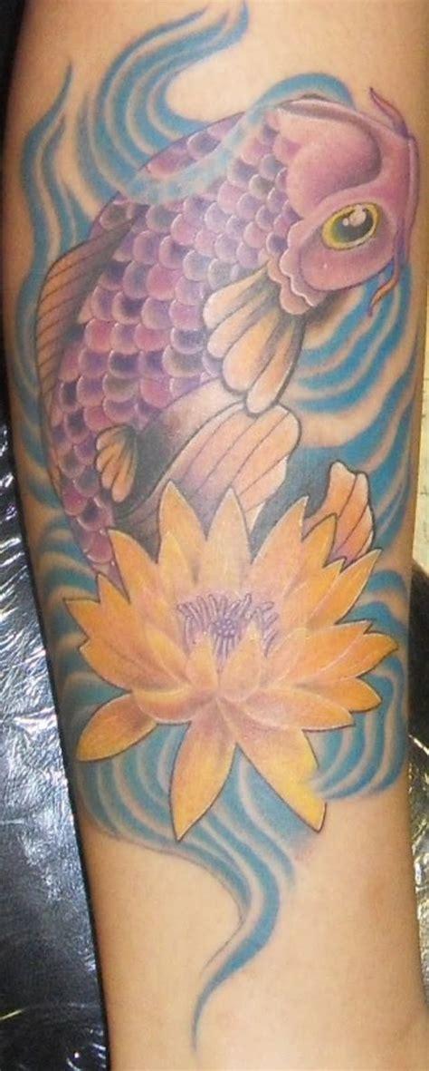 Lotus And Koi Designs Cool Koi And Lotus