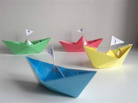 Craft Paper Boat - summer paper crafts for craftshady craftshady