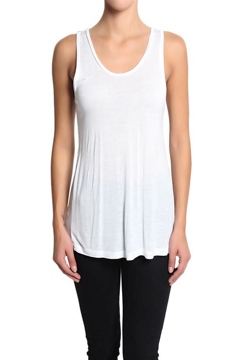 Sheer Top With Lace Tank Top themogan lightweight jersey lace back tank tops sleeveless