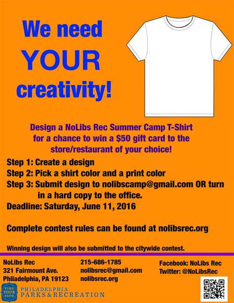 logo design contest guidelines t shirt design contest northern liberties recreation center