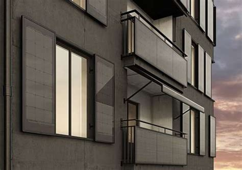 tende da sole fotovoltaiche fotovoltaico su balconi tende e finestre