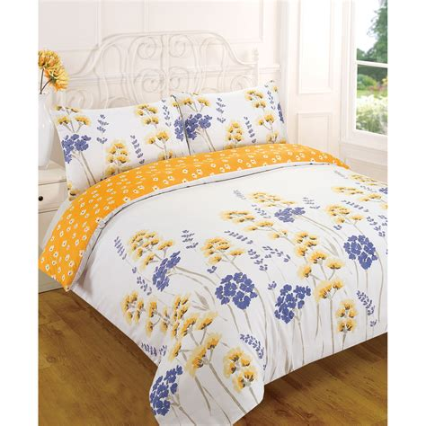 flower design quilt set wild flower meadow duvet cover reversible floral bedding