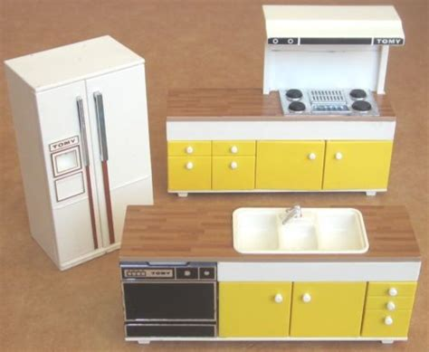 1970s Kitchen Appliances by 3 Tomy Original 1970s Japan Made Doll House Kitchen