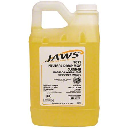 JAWS® 9072 Neutral Damp Mop Cleaner - 64 oz. | J & S Soap ... Jaws 9072