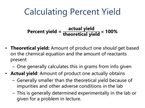 calculator yield ppt chapter 3 chemical reactions and the earth s