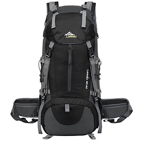 loowoko hiking backpack 50l travel cing backpack with cover kheei