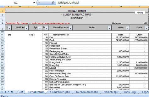 membuat jurnal umum excel membuat jurnal akuntansi dengan excel membuat software