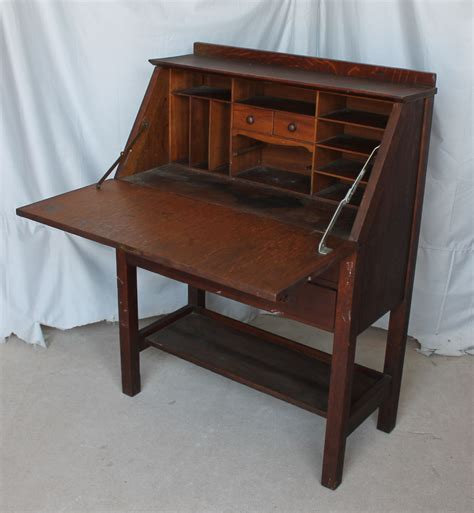 Stickley Drop Front Desk bargain s antiques 187 archive gustav stickley drop front desk bargain s antiques