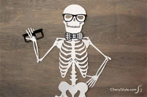 Make Your Own Paper Skeleton - printable skeleton decoration family crafts