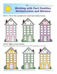 fact famiy worksheets multiplication and division