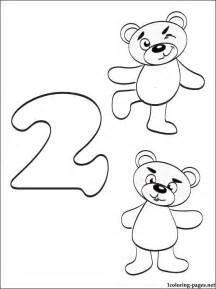 number 2 two coloring page coloring pages