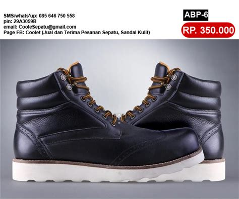 sepatu boot wedges kulit design bild