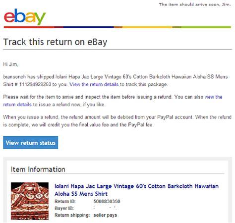 ebay refund ebay hassle free returns step by step the ebay community