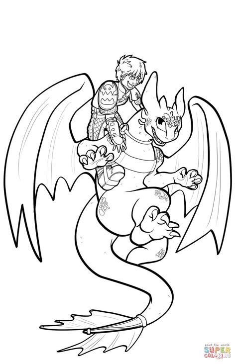 coloring pages toothless dragon hiccup and toothless flying coloring page free printable