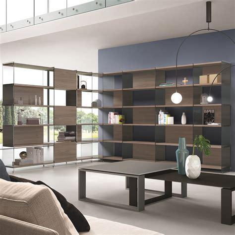 soggiorno design moderno byblos9 libreria scaffale angolare da soggiorno design moderno