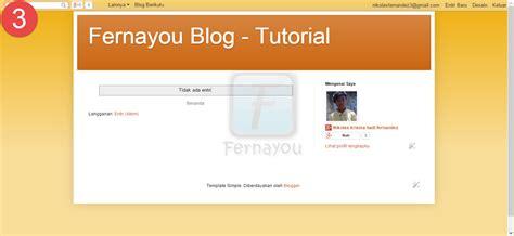 tutorial tentang blogger cara membuat blog di blogger