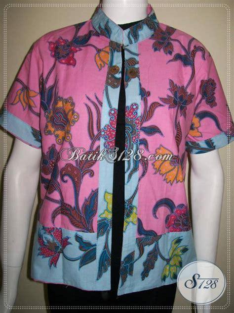 Bolero Batik Dua Motif Bolak Balik bolero batik bolak balik warna pink dan biru motif bunga blr439p toko batik 2018