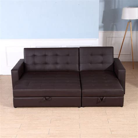 sofa bed storage sleeper chaise loveseat sectional