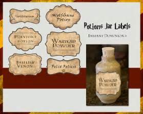 harry potter potions labels digital file
