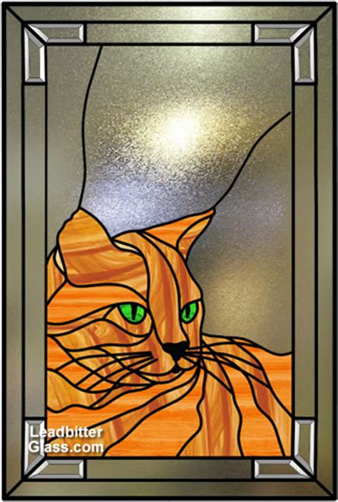 stained glass cat l stained glass pets